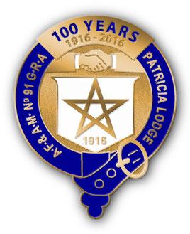 Patricia Lodge No. 91 - 100 year pin